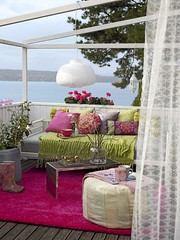 Summertime ! (Muriel Alvarez) Tags: pink summer sun white outside balcony terrasse homedecor outdoorshower