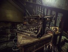 I was once a poet ! (andre govia.) Tags: urban house never classic abandoned typewriter vintage buildings photo rust shot photos decay ghost rusty best andre creepy explore stop mold manor exploration urbex monor govia