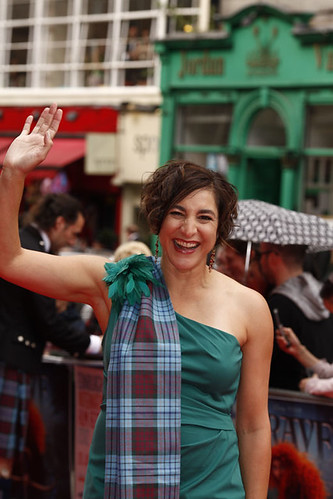 Katherin Sarafian on the red carpet for the European premiere of Brave at the Festival Theatre