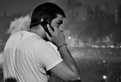 Una chiamata inaspettata? (_Bii_) Tags: boy portrait blackandwhite bw italy white man black rome roma night persona photography photo nikon italia foto persone uomo cellulare fotografia finale bianco ritratto nero notte biancoenero calcio ragazzo fumo circomassimo folla europei d5000 nikond5000 europei2012 pprimopiano
