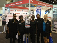 "The girls at the Asics expo • <a style=""font-size:0.8em;"" href=""https://www.flickr.com/photos/64883702@N04/7499534240/"" target=""_blank"">View on Flickr</a>"