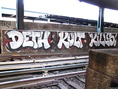 Deth Kult Kills (soulroach) Tags: new york nyc ny graffiti kills deth trackside kult