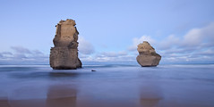 Twins (rubberducky_me) Tags: longexposure morning blue beach water sunrise canon sandstone pillar smooth australia wideangle victoria 12apostles portcampbell gibsonssteps portcampbellnationalpark 5dmarkii