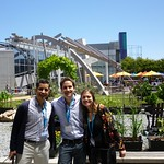 A must stop: visiting Google with Matías and Isabella.