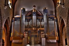 Church Tessenderlo inside - organ HDR (vale0065) Tags: church belgium belgie organ kerk orgel limburg flanders vlaanderen tessenderlo