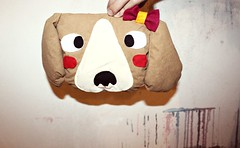 MAYA (Papuzzini Smellow) Tags: dog art beagle ecology toys handmade crafts craft present peluche peluches pupazzi astuccio reutilization smellow papuzzini
