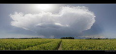 Thunderstorm - June 28th, 2012 (Igor HOLLMAN) Tags: france clouds canon landscape champs fields thunderstorm normandie nuages paysage 1022mm orage meteorology cumulonimbus stormchasing mtorologie
