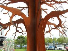 Rust tree (cleanskies) Tags: tree art miltonkeynes sustainability theatredistrict metaltree rusttree bottlegreenhouse