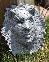 Imp (blue paper) Tags: art face paper origami mask joel cooper fold tessellation folding