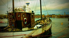 Old Stockholm Boat (EricOPhotos) Tags: old harbor boat wooden sweden stockholm nostalgic