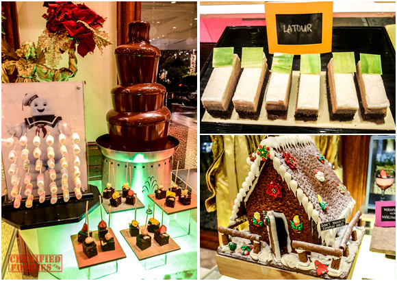 Chocolate fountain and a edible house at Cafe Jeepney