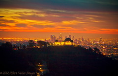 as the sun rises in L.A.! ( In 2 Making Images | L.A.) Tags: california longexposure skyline skyscrapers downtownla griffithobservatory hollywoodhills digitalphotography lasunrise lightstreams ilovela creativephotography canoneosdigitalslr flickraward discoverlosangeles rebelt2i albertvalles