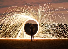 Sparks - Explore #332 01/08/2012 (Whitto27) Tags: light wool dark circle fire 50mm prime wire nikon f14 spin arc explore spinning sparks d5100 whitto27