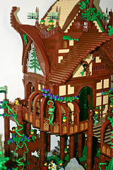 Forestmen Guild (Side) (Siercon and Coral) Tags: trees castle coral forest lego magic fantasy redwood archery guild mystic faerie elves moc lothlorien avalonia forestmen siercon