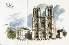 Notre-Dame de Paris (Luis_Ruiz) Tags: paris france architecture sketch arquitectura cathedral gothic catedral sketchbook luis notre dame ruiz