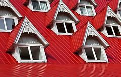 Windows (gordeau) Tags: windows red gordon repetition ashby flickrchallengegroup flickrchallengewinner thechallengefactory gordeau
