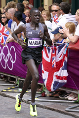 Guor Marial (Steve_C) Tags: sport athletics leadenhallmarket marathon august running run olympics athlete runner 2012 london2012 canoneos40d guormarial