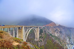 California Big Sur 6 Bixby Bridge spanning Rainbow Canyon (paspog) Tags: california usa unitedstatesofamerica bigsur pacificocean bixbybridge rainbowcanyon ocanpacifique