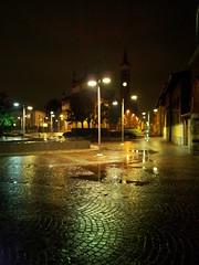 Rescaldina piazza Chiesa sotto la pioggia (Saverio Valvano) Tags: rain night rescaldina regionwide