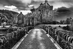 Come on Eilean! (movinonagroove) Tags: blackandwhite castle photoshop canon scotland moody isleofskye eileandonancastle kyleoflochalsh canoneos5dmarkii blinkagain silverefexpro2