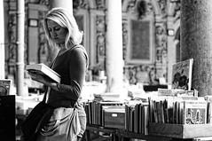 untitled (.Genc0.) Tags: street woman 50mm noiretblanc candid sony books lille bourse f17 nex3n