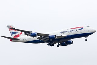 G-BYGD BA Boeing 747-400 at Heathrow