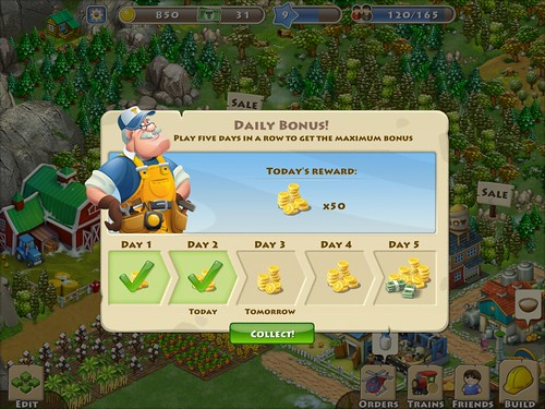 Township Daily Reward: screenshots, UI