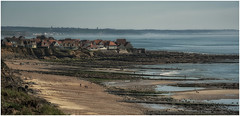 Audresselles (Eric@focus) Tags: sea sky france beach coast town haze rocks greatphotographers opalcoast nikond7100