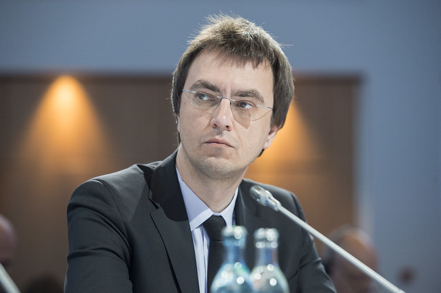 Volodymyr Omelyan at the Closed Ministerial Session