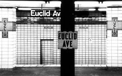 Wait, I'm Confused.  Where am I again? (mheidelberger2000) Tags: newyorkcity blackandwhite sign brooklyn underground subway tile transit masstransit helvetica eastnewyork indfultonline