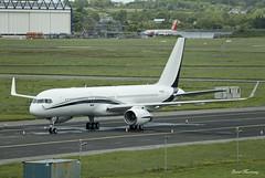 Funair Corporation 757-256 N757AG (birrlad) Tags: ireland private airplane airport ramp taxi aircraft aviation airplanes jet apron corporation international shannon vip parked passenger boeing executive 757 taxiway bizjet b757 snn 757200 funair 757256 b752 n757ag