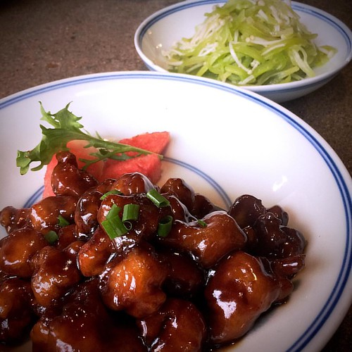 梅子里脊、金针莴笋@几荷 #值得推荐的千岛湖餐厅