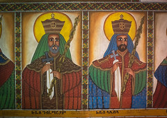 Ethiopian emperors painting inside a rock church, Amhara region, Lalibela, Ethiopia (Eric Lafforgue) Tags: africa color art history horizontal painting religious outdoors mural day artistic faith religion ceremony nobody nopeople historic christian unescoworldheritagesite kings devotion christianity spirituality ethiopia orthodox pilgrimage religiouscelebration coptic developingcountry lalibela orthodoxy hornofafrica eastafrica thiopien emperors saintmary etiopia abyssinia worldculture ethiopie etiopa artandcraft  etiopija ethiopi artscultureandentertainment  africanculture ethnicgroup etiopien etipia  etiyopya  amhararegion      religiousequipment    ethio163628