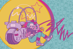 Best Summer Ever (RNSaffold) Tags: anime art illustration digital vectorart digitalart fanart adobe 80s illustrator vector dragonball dragonballz adobeillustrator bulma vectorillustration