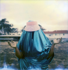 polaroid (sarahabramson) Tags: camera pink blue trees sky green art love film hat car mystery analog polaroid outdoors gold contemporary fineart wheels fine naturallight fabric visor goodlight instantfilm filmisnotdead filmforever filmisbetter impossibleproject