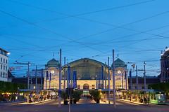 Basel Hauptbahnhof (damianschaerer) Tags: hotel schweiz reisen platz urlaub transport tram bahnhof basel ferien schweizer parkhaus einkaufen hauptplatz logistik stromkabel franzsicher