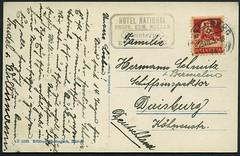 Archiv E442 Rckseite der Karte aus Engelberg, Schweiz, Poststempel vom 25. Juli 1925 (Hans-Michael Tappen) Tags: 1920s schweiz stamps ephemera 1925 engelberg postkarte handschrift briefmarke poststempel 1920er archivhansmichaeltappen