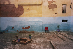 un monde parfait (michel nguie) Tags: africa street blue urban film wall analog chair fez marocco rc fes bab fs michelnguie
