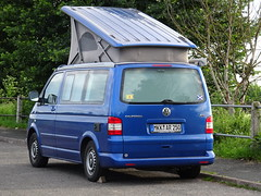 The Final Solution (stevenbrandist) Tags: california blue silly vw volkswagen awning satire camper loughborough transporter quorn layby
