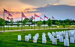 Memorial Day 2016 (Wes Iversen) Tags: cemeteries holidays michigan sunsets holly tombstones hdr memorialday nikkor24120mm greatlakesnationalcemetery