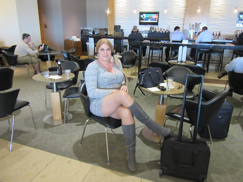 At the Admirals Club in DFW