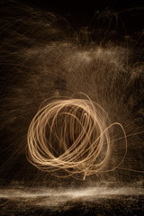 Painting with light (Stuart MacNeil) Tags: longexposure light night dark painting fire paintingwithlight sparks