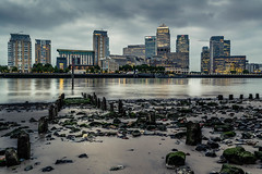 deep in (Regis Lampert) Tags: london thames tide low apocalypse wharf canary