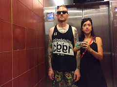 elevator mirror selfie (irene_joy) Tags: mexico mirror cabo eric elevator irene selfie fiestaamericana