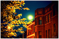 Full-moon painting (2 - 2) | First Day of Summer (Stephenie DeKouadio) Tags: sunset summer sky urban moon color colour art canon painting photography washingtondc dc washington colorful image artistic outdoor fullmoon imagery columbiaheights urbandc