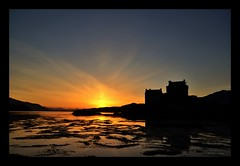 Eilean Donan Castle - Scottish Highlands Sunset (Michael~Ashley) Tags: sunset mountains castle scotland nikon scottish loch eilean donan