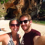 "Us on Phra Nang Beach <a style=""margin-left:10px; font-size:0.8em;"" href=""http://www.flickr.com/photos/14315427@N00/6920895844/"" target=""_blank"">@flickr</a>"
