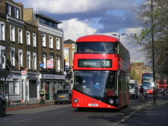 LT2 - LT61 BHT Routemaster replacement, 38 route, Balls Pond Road, N1 (sludgegulper) Tags: road pond balls victoria route boris routemaster 38 lt61 arriva bht lt61bht