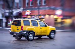 Speedy Yellow (Kurayba) Tags: old city winter urban snow cana