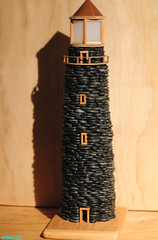 Lighthouse808 (mcshots) Tags: california light usa lighthouse electric miniature losangeles rocks lighthouses stones stock models handcrafted mcshots southbay beacon beachpebbles beachpebblelighthouse thebeachpebblelighthouses